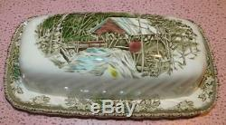 Johnson Brothers Friendly Village Covered Butter Dish
