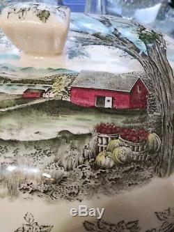 Johnson Brothers Friendly Village Rectangular Shape Soup Tureen / Lid/ No Ladle