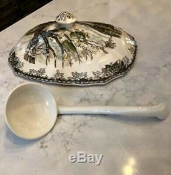 Johnson Brothers Friendly Village Rectangular Soup Tureen Lid and Ladle