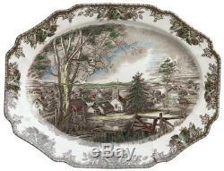 Johnson Brothers Friendly Village Thanksgiving Turkey Platter New No box 20