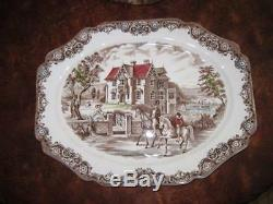 Johnson Brothers HERITAGE HALL 20 Large Oval Serving Platter EXC CONDITION