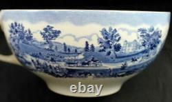 Johnson Brothers HISTORIC AMERICA BLUE Colossal Cup & Saucer GREAT CONDITION