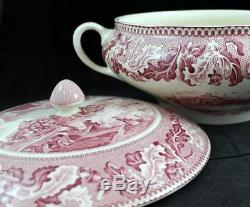 Johnson Brothers HISTORIC AMERICA PINK Tureen with lid GREAT CONDITION