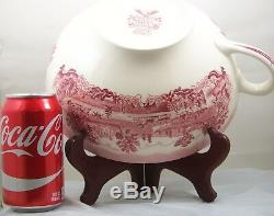 Johnson Brothers HISTORIC AMERICA RED Colossal Cup 80oz RARE