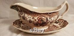 Johnson Brothers HIS MAJESTY Gravy Boat & Plate! England