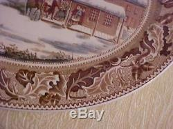 Johnson Brothers HOME FOR THANKSGIVING Historic America Frozen Up Turkey Platter