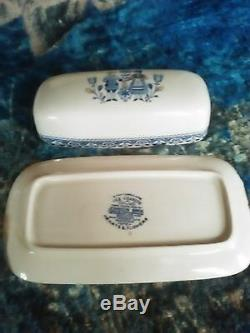 Johnson Brothers Hearts & Flowers 1/4 lb covered butter dish htf
