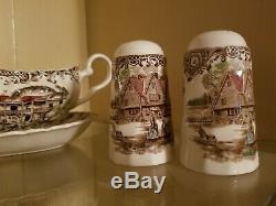 Johnson Brothers Heritage Hall Brown China Set Svc For 8 Made In England