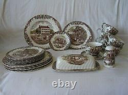 Johnson Brothers Heritage Hall Georgian Town House-plates-cups-butter Dish-salt
