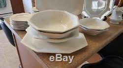 Johnson Brothers Heritage White dish set- 10-cups, 10-6 plates, 10 10 plate