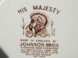 Johnson Brothers His Majesty 20 Turkey Platter & 8 Dinner Plates Unused Bin