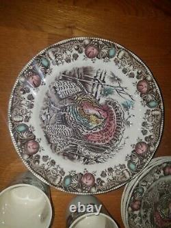 Johnson Brothers His Majesty Turkey Dinnerware 16 pieces, New on box