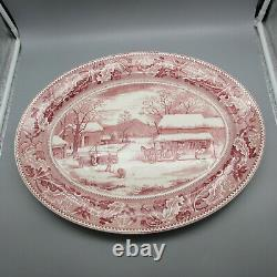Johnson Brothers Historic America Large Pink Turkey Platter