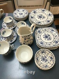 Johnson Brothers Indies Blue Assorted (lot Of 38) Pieces