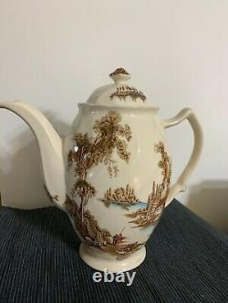 Johnson Brothers Ironstone Coffee Pot The Old Mill Brown Multicolor