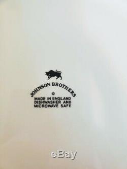 Johnson Brothers Ironstone Heritage White Dinner Plates England x 10 UNUSED