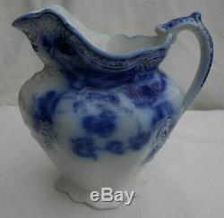 Johnson Brothers Kenworth Flow Blue Milk Pitcher Creamer 16 Oz Antique Rare