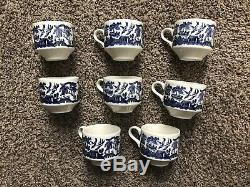 Johnson Brothers Large Set Service For 5-8 Churchill Blue Willow China England