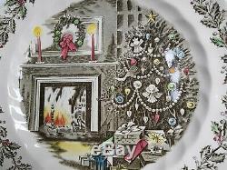 Johnson Brothers MERRY CHRISTMAS Large Round Holiday Serving Platter GORGEOUS