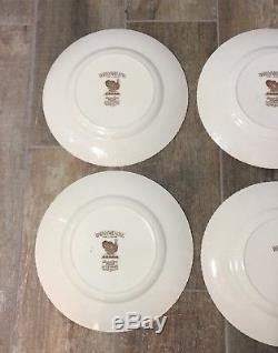 Johnson Brothers Made In England Barnyard King Turkey Dinner Plates Set of 6