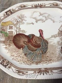Johnson Brothers Made In England X-Large Thanksgiving Turkey Serving Platter