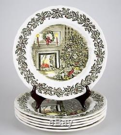 Johnson Brothers Merry Christmas Dinner Plates, Set of (6), Multiple Sets