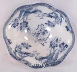 Johnson Brothers Mongolia Covered Vegetable Dish Tureen Oval Gray Blue As Is
