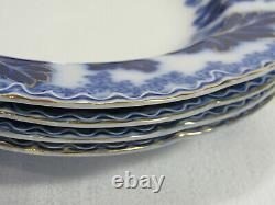 Johnson Brothers NORMANDY Beautiful Flow Blue 4 Large Rim Soup Bowls GC