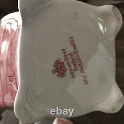 Johnson Brothers OLD BRITAIN CASTLES 8 BLARNEY COFFEE TEA POT PINK RED RARE
