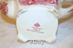 Johnson Brothers OLD BRITAIN CASTLES Blarney England Pink 7 1/2h Coffee Pot