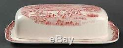 Johnson Brothers OLD BRITAIN CASTLES PINK 1/4 Lb Covered Butter Dish 281566
