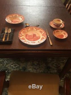 Johnson Brothers OLD BRITAIN CASTLES PINK. Approximately 42 pieces