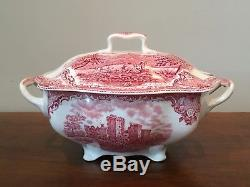 Johnson Brothers OLD BRITAIN CASTLES PINK Rectangular Tureen & Lid Made ENGLAND