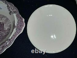 Johnson Brothers Old Britain Castles LAVENDER Purple VEGETABLE BOWL with Cover