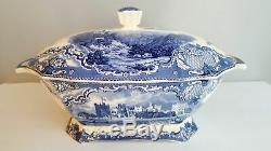Johnson Brothers Old Britain Castles Large Blue Soup Tureen Old Mark