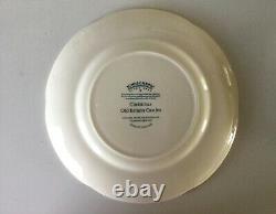 Johnson Brothers Old Britain Castles PINK CHRISTMAS 4 Plates Bowl Platter Set