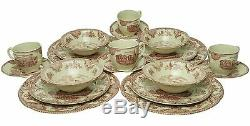 Johnson Brothers Old Britain Castles Pink 20-piece Dinnerware Set for 4 NEW