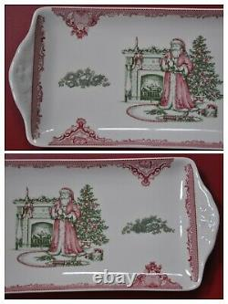 Johnson Brothers Old Britain Castles Pink Christmas Rectangular Tray