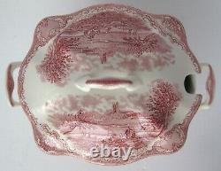 Johnson Brothers Old Britain Castles Pink Soup Tureen Made in England