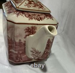 Johnson Brothers Old Britain Castles Pink Teapot with Lid PERFECT! 6 Cup