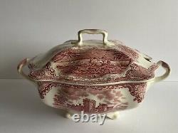 Johnson Brothers Old Britain Castles Soup Tureen Pink