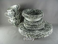 Johnson Brothers Paisley Black Service for 4 Dinnerware, 20 Piece Set