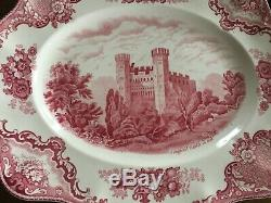 Johnson Brothers Pink China Old British Castles 68 pieces