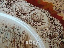 Johnson Brothers Rare Woodland Wild Turkeys 20 Oval Platter England Excellent