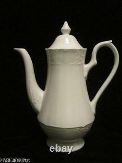 Johnson Brothers Richmond White 5 Cup Coffee Potserverembossednew