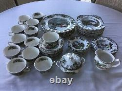 Johnson Brothers Set of 48+ THE FRIENDLY VILLAGE Plates Cups Bowls 8 Settings
