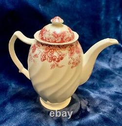 Johnson Brothers Strawberry Fair Pink Coffee Pot & Lid