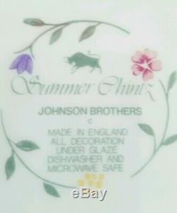 Johnson Brothers Summer Chintz Large 17 pc Set Made in England EUC