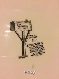 Johnson Brothers THE FRIENDLY VILLAGE 20 Oval Serving Turkey Platter 276955