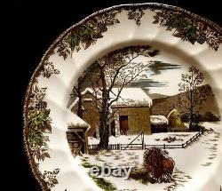 Johnson Brothers The Friendly Village The Turkey 10.5 Dinner Plates Set of 4